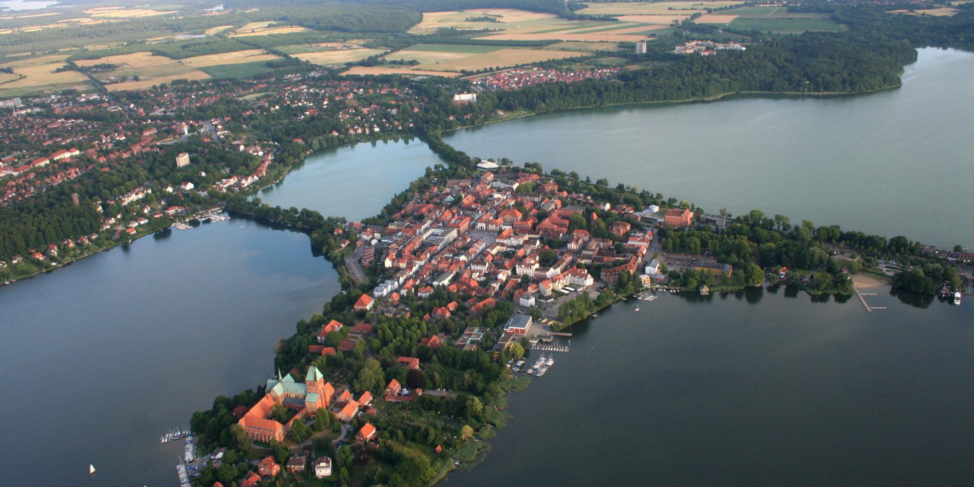 Ratzeburg aus der Luft. Foto: Anders